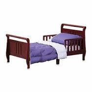 Cherry Sleigh Crib front-1055829