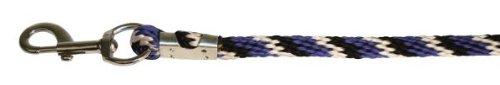 Kerbl Führstrick Mustang Karabiner- haken, royalblau/schwarz/weiß