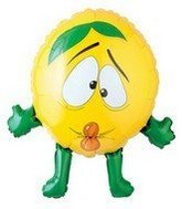 "Lemon Man Fruits And Veggies 28"" Mylar Balloon"