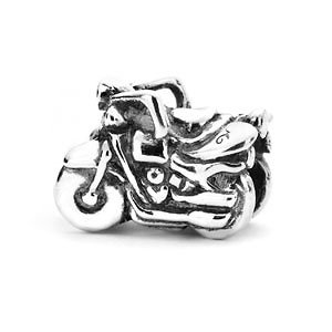 Motorcycle Charm Bead in Sterling Silver - Made in the USA By Novobeads -  Fits Pandora