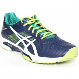 Asics Gel-Solution Speed 3 Scarpe da Tennis, Uomo, Multicolore (Indigo Blue/White/Lime), 44