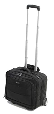 "Members Luxury 16"" Carry On Laptop Case on Wheels in Black (CM-0029)"