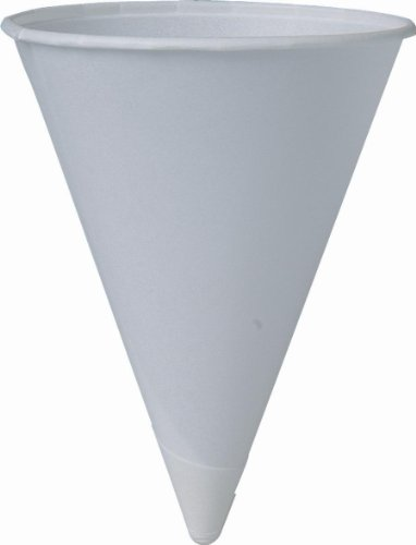 Solo 4BR Cone Water Cups Cold Paper Four Ounces White 200 Per Pack