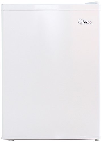 Midea Whs-87Lw1 Compact Single Reversible Door Refrigerator And Freezer, 2.4 Cubic Feet, White