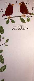 """Twitter"" Magnetic Notepad by Hatley"