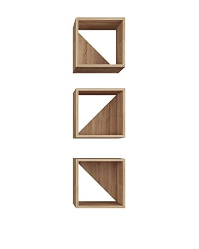 Mobito Design Set Estantería De Pared 3 Uds. Trian