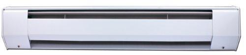 King 6CB2412BW 1250-Watt 240-Volt 6-Foot Ceramic Baseboard Heater, White (Power Heat Register compare prices)