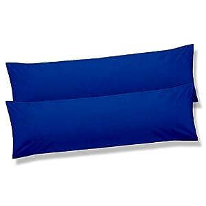 Seitenschläferkissen Stillkissen Bezug 40x145 cm Mikrofaser Doppelpack BeBasic royal blau
