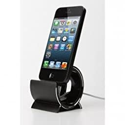 Sinjimoru Aluminium Iphone 6, 5, 5S, 5C, 4, 4S, 3G, 3GS, Ipad, Mini 2, 3, Ipod Charging Sync Desktop Stand Dock Cradle Holder Aluminum (Black)