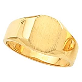 14K Yellow Gold Octagon Signet Ring