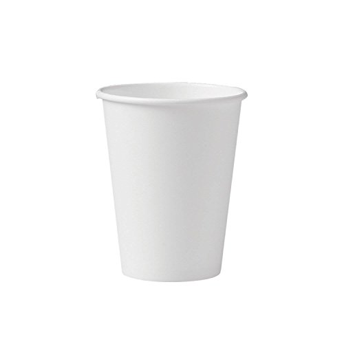 50 8oz White Paper Cups (8 Ounce Disposable Coffee Cups compare prices)