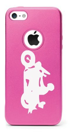 CHOPPER (MOTORBIKE) Aluminum and Silicone iPhone 5/5s Protective Case (VARIABLE COLORS) (Pink)