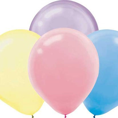 "Amscan Lustrous Pearlized Latex Balloons (10 Count), 12"", Assorted"