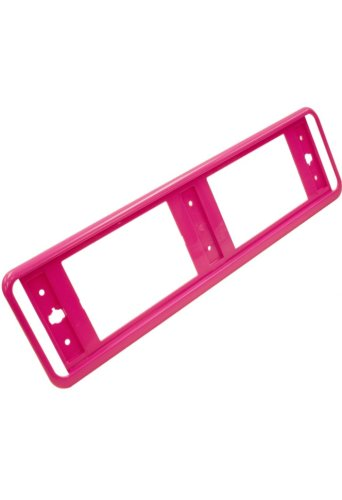 Pink number plate trim / surround