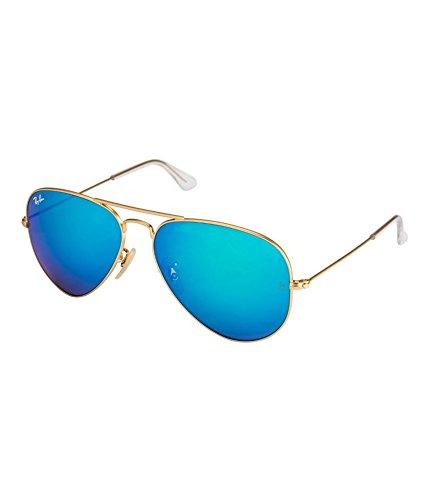 Rayban Rb3025 112/17 Arista Blue Mirror Aviator Sunglasses