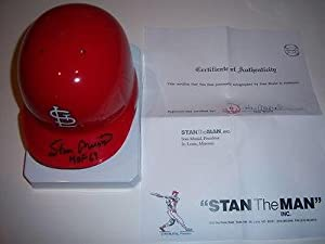 Stan Musial St.louis Cardinals Coa stan Musial Signed Mini Helmet - Autographed MLB... by Sports+Memorabilia