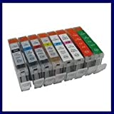 Canon 8 Pack CLI-8BK CLI-8C CLI-8M CLI-8Y CLI-8PC CLI-8PM CLI-8G CLI-8R compatible ink cartridges with chips for Canon Pixma Pro 9000 and Pro 9000 Mark II