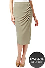 Twiggy for M&S Woman Pull On Drape Skirt