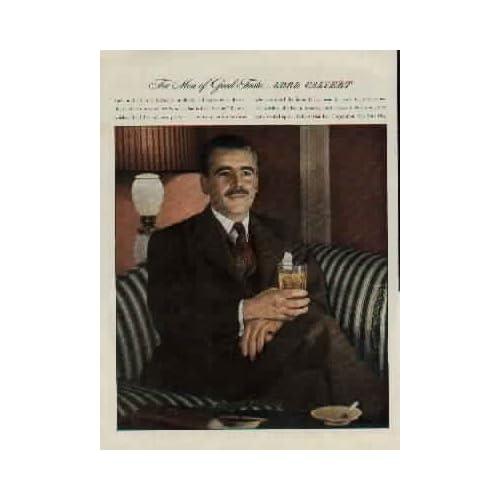 For Men of Good Taste  Lord Calvert   1944 Lord Calvert Whiskey Ad, A4346.