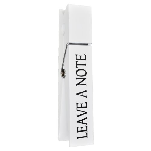 "10"" Jumbo Wooden Large Clothes Pin Style ""Leave a Note"" (White)"