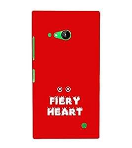 EPICCASE fiery heart Mobile Back Case Cover For Nokia Lumia 730 (Designer Case)
