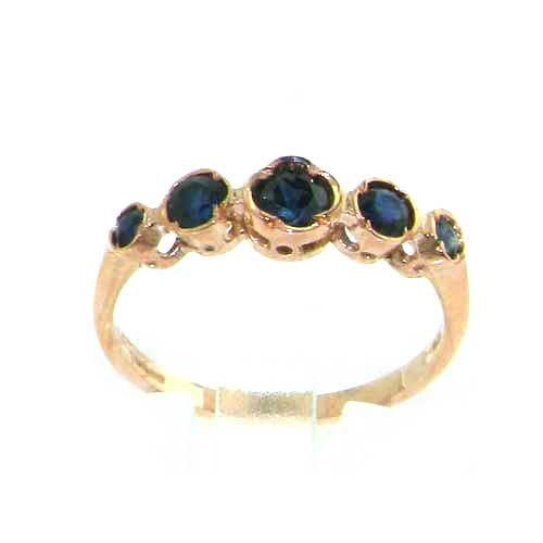 9ct Rose Gold Ladies Sapphire Eternity Ring - Size O - Finger Sizes L to Q Available - Ideal for Birthday, Valentines, Anniversary or Christmas Gift