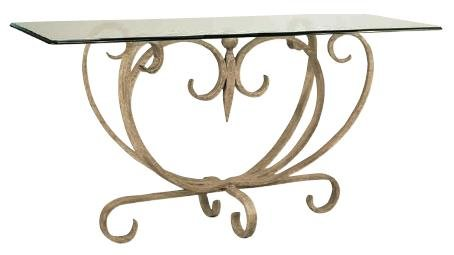 Cheap Madrid Iron Console Table w/ Rectangular Glass Top (B000TXRKXS)
