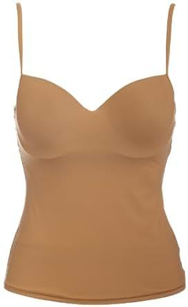 Hanro Women's Sensual Padded Bra Camisole,Skin,32C