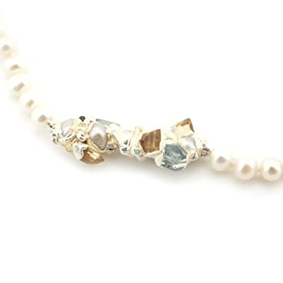 Encrusted Pearl and Citrine Necklace by Ruth Tomlinson