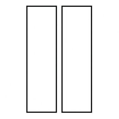 Ambiance Blank Address Number Tile (Set Of 2) [Set Of 4] Finish: White