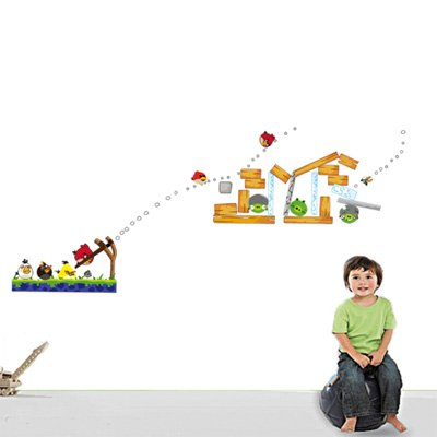Gadfly- Angry Birds Peel & Stick Nursery/baby Wall Sticker Decal - 1