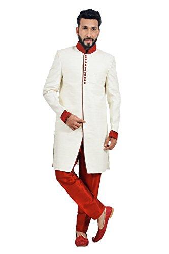 Runako-White-Wedding-Indowestern-Sherwani-For-Men