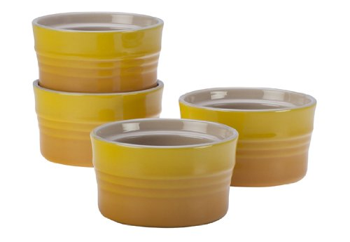 Le Creuset Stoneware Set of 4 Stackable Ramekins, 7-Ounce, Dijon