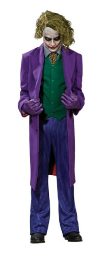 Batman The Dark Knight Grand Heritage Deluxe Costume And Mask, The Joker, Purple