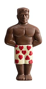 Unique Valentines Day Gift, The Perfect Man Shaped Solid Decorated Premium Milk Chocolate, Great Valentine Gift for Your Perfect Boyfriend, Girlfriend Or Any Friend By Pistachio Gifts