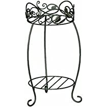 Panacea 89172 Scroll and Ivy Double Plant Stand, 21.25-Inch