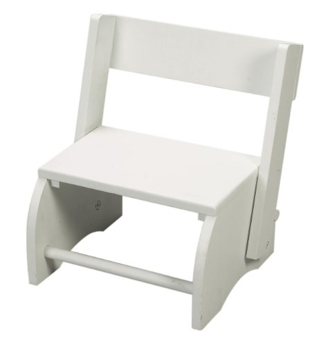 Gift Mark Childrens Flip Stool, White, Large