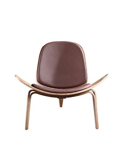 Ceets Oblique Leisure Chair, Brown