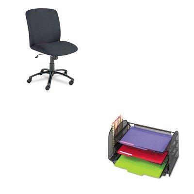 Kitsaf3265Blsaf3490Bl - Value Kit - Safco Uber Series Big Amp;Amp; Tall Swivel/Tilt High Back Chair (Saf3490Bl) And Safco Mesh Desk Organizer (Saf3265Bl) front-727722