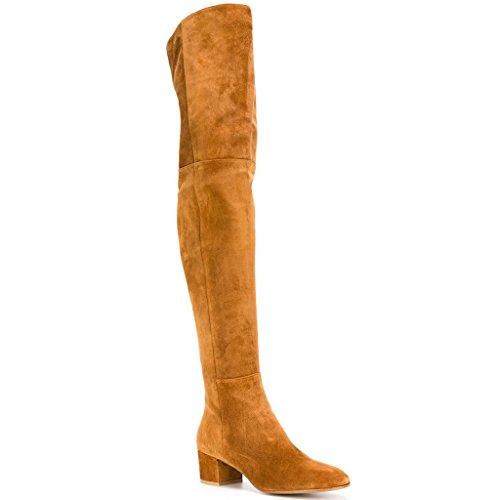 shofoo-femmes-bottes-marron-ou-rouge-ou-noir-cuir-de-daim-synthetique-cuissarde-talon-plat-bout-poin