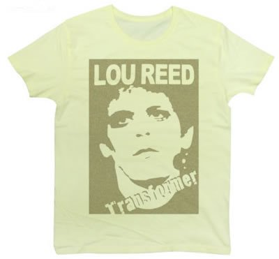 Rock Star Tシャツ ルー・リードのトランスフォーマー モチーフ フォト Tシャツ LOU REED (M, LIGHTYELLOW)