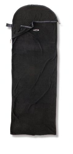 draps sac de couchage gelert drap housse en micro polaire pour sac de couchage noir. Black Bedroom Furniture Sets. Home Design Ideas