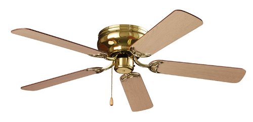 Nutone Model Cfh52Pb Hugger Series Ceiling Fan, Polished Brass Finish, 52-Inch, Dual Finish Blades, Energy Star front-960813