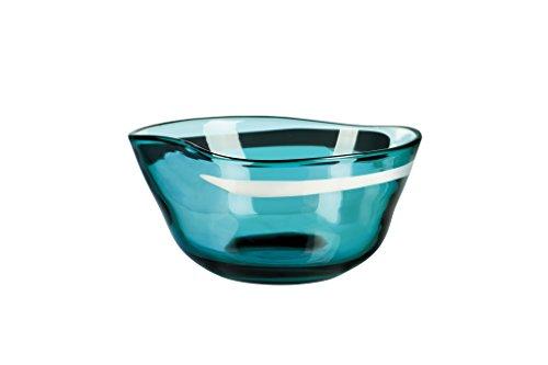 Qualia Glass Polaris 10 Inch Decorative Bowl, Blue