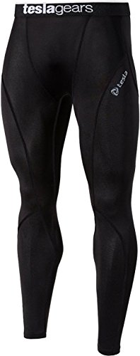 TESLA Mens Boys Long Pants Lightweight Compression Base Layer Sports Skins