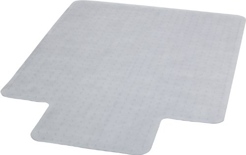 Flash Furniture MAT-CM11233FD-GG 45-Inch by 53-Inch Carpet Chairmat with Lip, Clear