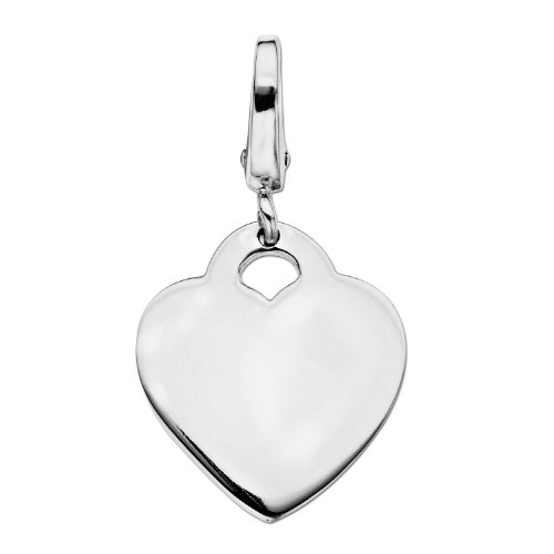 XPY Sterling Silver Heart Tag Charm