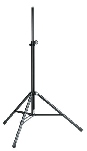 K&M 21463 Speaker Stand With Pneumatic Spring - Black