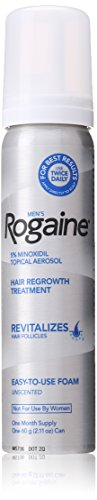 Rogaine for Men Hair Regrowth Treatment, 5% Minoxidil Topical Aerosol, Easy-to-Use Foam, 2.11 Ounce, 3 Month Supply (Packaging May Vary)