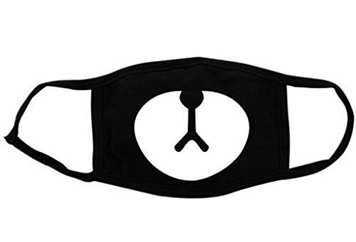 (ビグッド)Bigood 可愛い おもしろ 動物 マスク コスプレレディース フェイスマスク 子供 立体マスク 大人用 おしゃれ 花粉 風邪 洗える メンズ用 クマ 黒